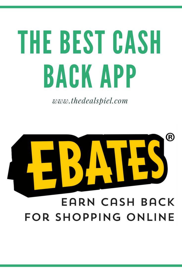 EBATES – THE BEST CASH BACK APP